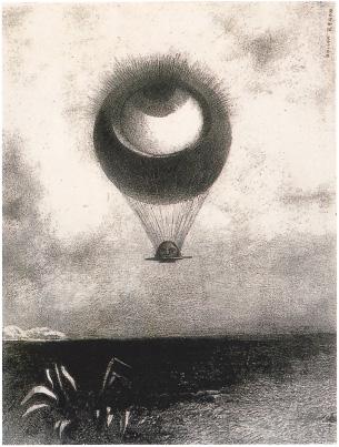 オディロン・ルドン「目は奇妙な気球のように無限に向かう」