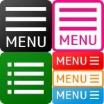 【フリー素材】ハンバーガーアイコン・アコーディオンメニューのボタン画像(商用可・加工可)